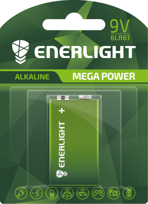 Батарейка ENERLIGHT MEGA POWER 6LR61 BLI 1
