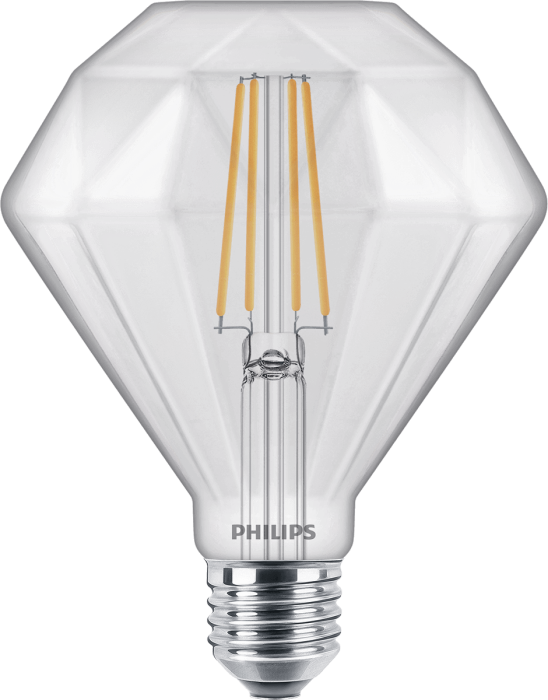 Лампа Filament Philips LEDClassic 40W Diamond E27 2700K CL D