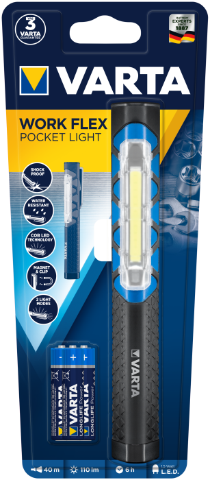 Ліхтар VARTA WORK FLEX POCKET LIGHT