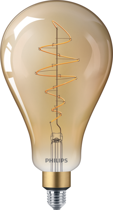 Лампа Filament Philips LED classic-giant 40W E27 A160 GOLD DIM