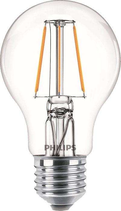 Лампа світлодіодна Philips Filament LED Classic 4-40 Вт A60 E27 830 CL NDAPR