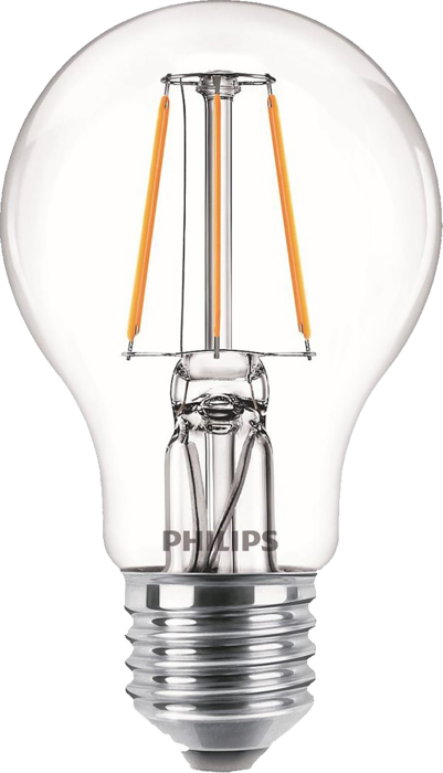 Лампа світлодіодна Philips Filament LED Classic 4-40 Вт A60 E27 865 CL NDAPR