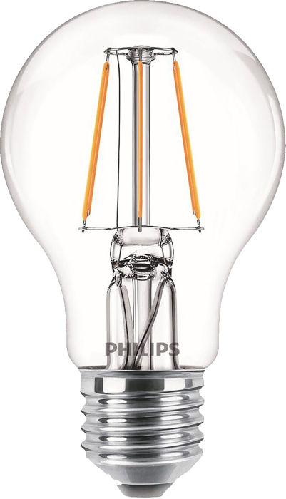 Лампа світлодіодна Philips Filament LED Classic 6-60 Вт A60 E27 830 CL NDAPR