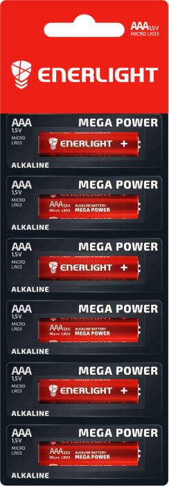 Батарейка ENERLIGHT MEGA POWER AAA MB 1*6