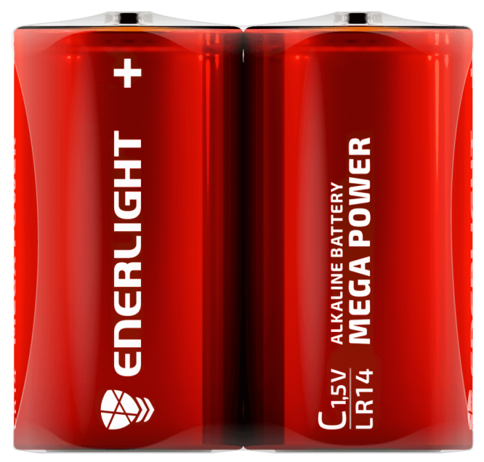 Батарейка ENERLIGHT MEGA POWER C FOL 2