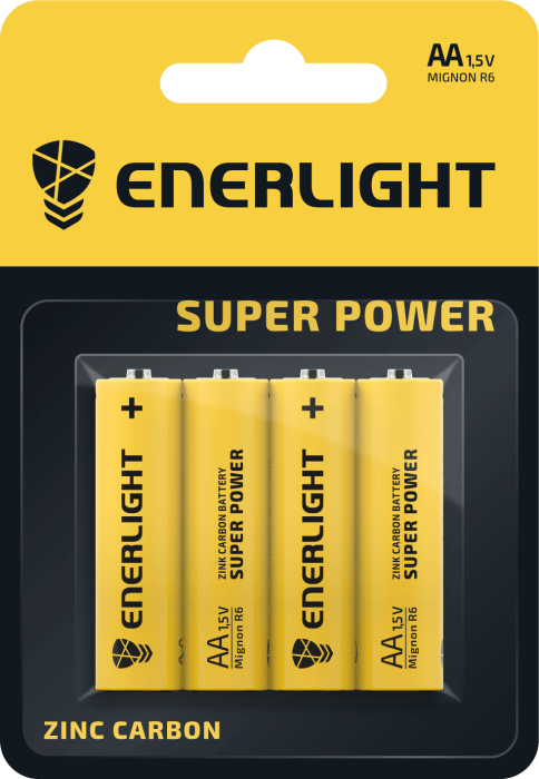 Батарейка ENERLIGHT Super Power AA BLI 4