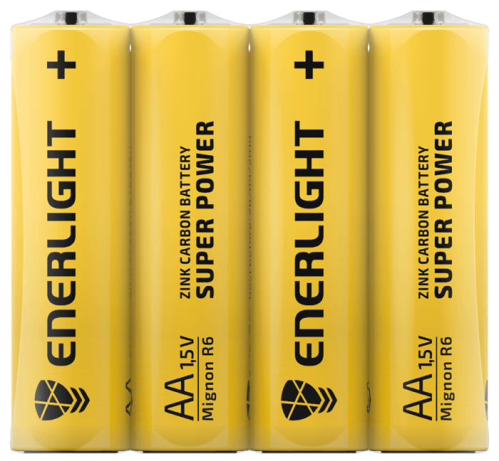 Батарейка ENERLIGHT Super Power AA FOL 4
