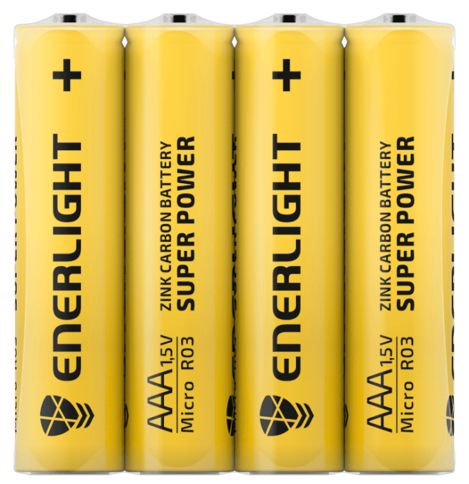 Батарейка ENERLIGHT Super Power AAA FOL 4