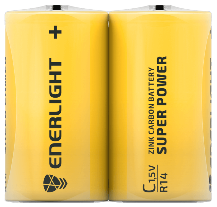 Батарейка ENERLIGHT Super Power C FOL2