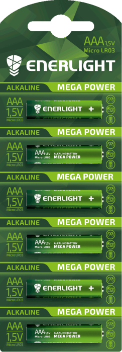 Батарейка ENERLIGHT MEGA POWER AA MB 1*6